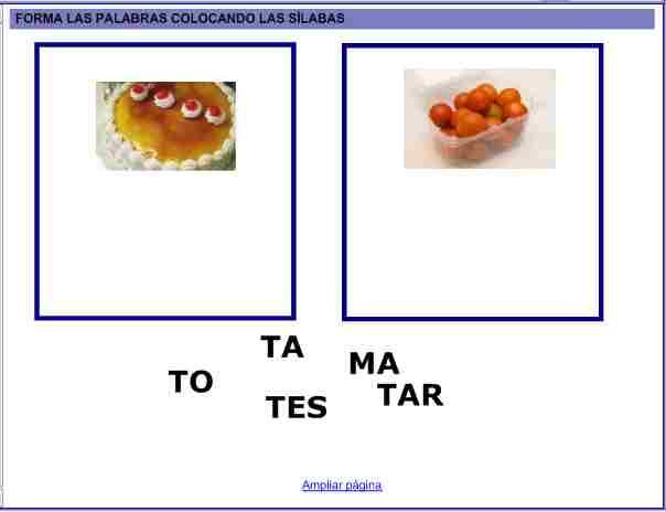 Palabras Silabas Palabras Con Silabas