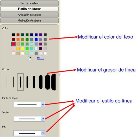 grabar modificaciones: