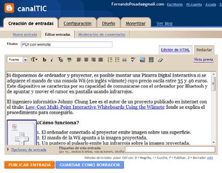 Anatomía de un blog | Multimedia y Web 2.0