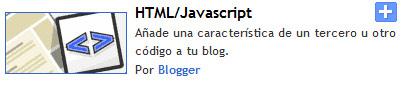 Añadir HTML/Javascript