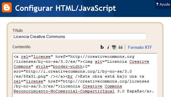 Configurar HTML/Javascript
