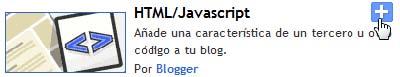 Añade el gadget HTML/Javascript