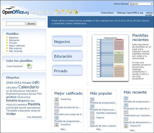 Instalar nuevas plantillas dise o de presentaciones en la ense anza openoffice - Open office impress templates ...
