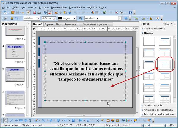 Diapositivas de texto centrado   Diseño de Presentaciones en la ...