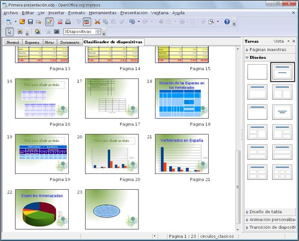 Modo clasificador de diapositivas dise o de for Diseno de diapositivas