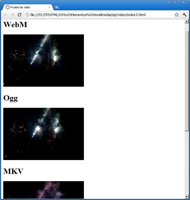Insertar un vídeo | Elementos multimedia