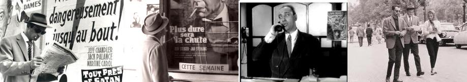 carteles de films y cameos de Melville y Godard