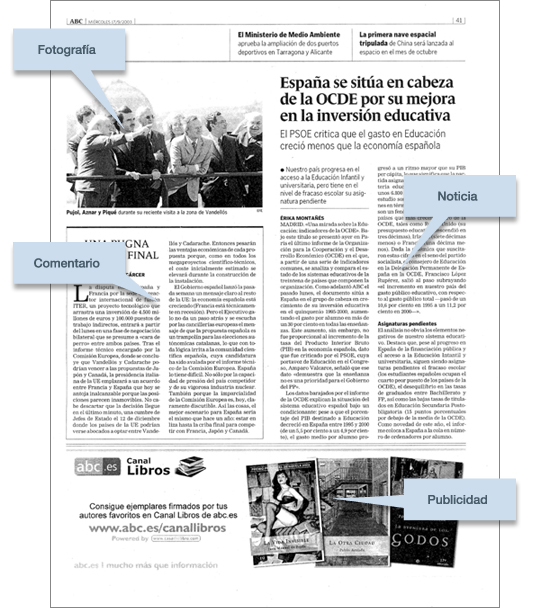 Elementos la prensa un recurso para el aula for Cual es la estructura del periodico mural